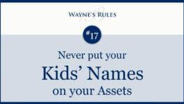 Wayne's Rule #17
