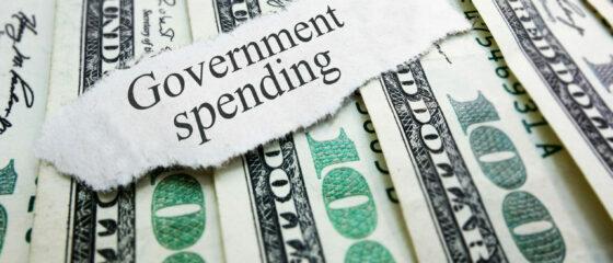 Government,Spending,Newspaper,Headline,On,Assorted,Money